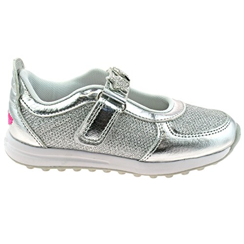 Lelli Kelly LK7856 (HH01) Metallic Argento Colorissima Dolly Trainer Shoes -24 (UK 6.5)