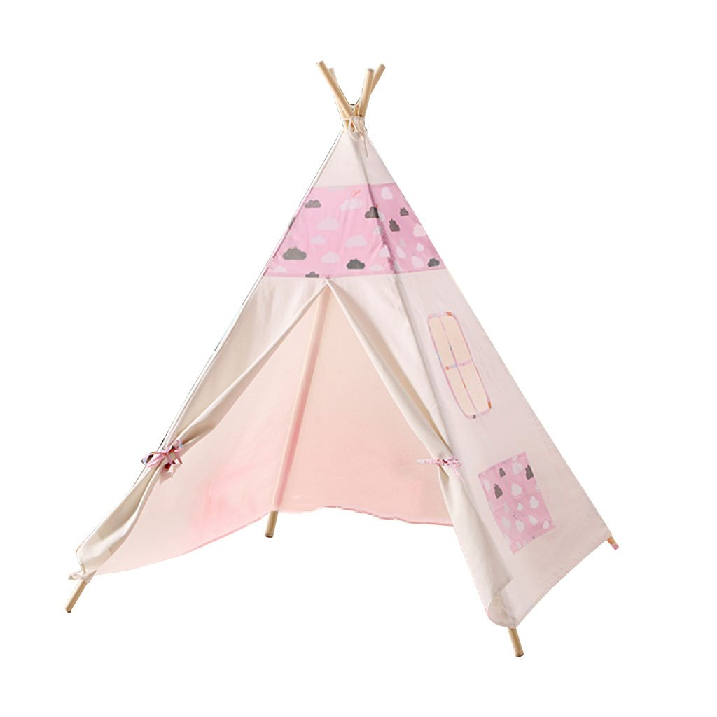 HWH 屋内テント、子供ベビープレイハウスベッドルーム小テント男の子と女の子屋外ゲームハウス写真小道具誕生日プレゼント120 * 120 * 145CM ゲームハウス (色 : Pink) B07GYS6CTM Pink