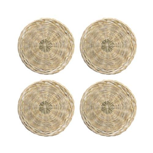 Farberware BBQ Bamboo Plate Holders, Set of 4