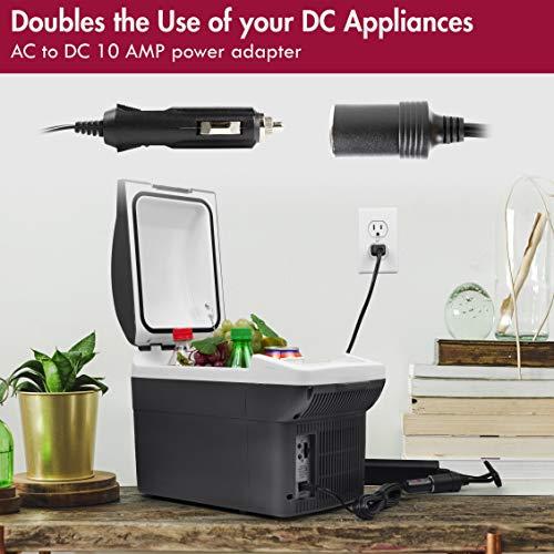 Wagan EL9904-10 Amp 110V-240V AC to DC Power Adapter 100-240V 10A to 12V Car Cigarette Lighter Socket AC/DC Power Converter by Wagan (Image #4)