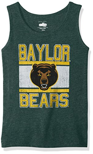 NCAA Baylor Bears Children Girls Sleeveless Tee,6,Evergreen Blend