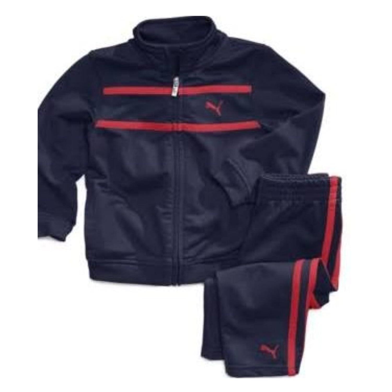 Amazon Puma Infant Boys 2 Piece Blue Red Stripe Jacket Pants