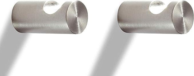 PHOS Design Wandhaken Ø12 mm Premium Edelstahl massiv geschliffen Länge 35 mm