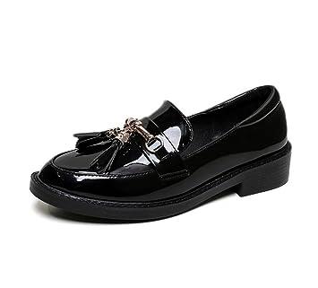 HN Shoes Mujer Borla Mocasines Plano Colegio Oficina Señoras Oxford Zapatos Zapatillas tamaño: Amazon.es: Deportes y aire libre