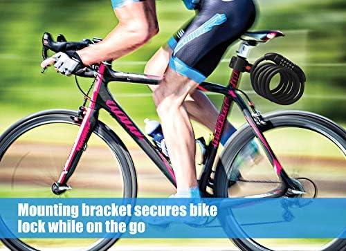 Autoavvolgente BICICLETTA SCOOTER Lucchetto bicicletta lucchetto Ruota Bici Passeggino CICLOMOTORE