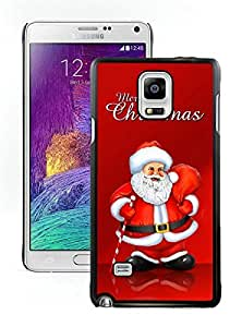 New Design Santa Claus Black Samsung Galaxy Note 4 Case 18
