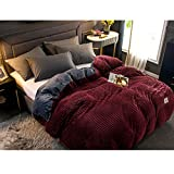 ZPEE Thicken Corduroy Duvet Cover,Ultra Soft Luxury