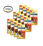 PACK OF 12 - Pedigree DentaStix Beef Flavor Toy/Small Breed Chews Dog Treat, 24 ct