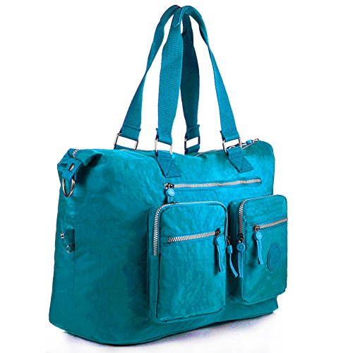 Turquoise Navy Bag Nylon Weekender 1212 1212 Travel blue blue Large Tote qqxwa6z