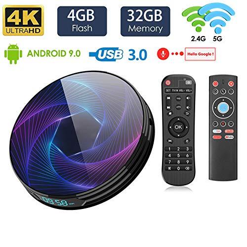 LAYZYX 128GB Smart 4K TV Android 9.0 Box, 2.4G&5.8G Dual Wifi Quad Core 3D 4K Ultra HD H.265 USB3.0 BT4.0, Media TV…