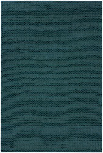 Diva At Home 8' x 10' Bright Day Solid Turquoise Hand Woven New Zealand Wool Area Throw Rug (8' New Zealand Wool)