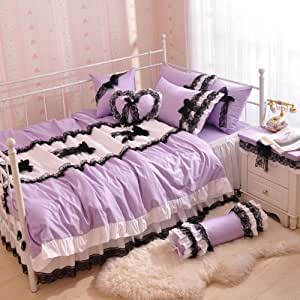 purple pink and blue bedroom diaidi home textile purple blue yellow pink 19569