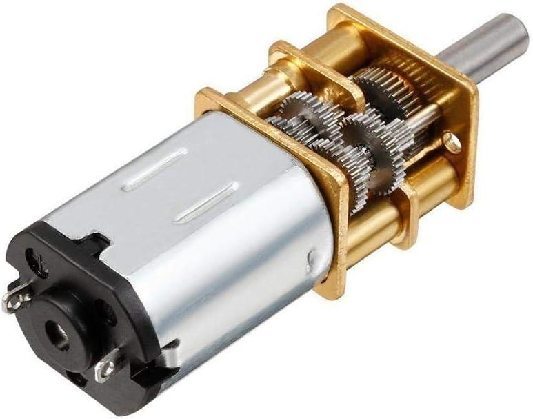 1pc DC 3V NO LOGO WJN-Motor 6V 12V N20 Mini Micro Metall Getriebemotor mit Gearwheel DC Motoren 15//30//50//60//100//200//300//500//1000 UPM Farbe : 100, Gr/ö/ße : 6V
