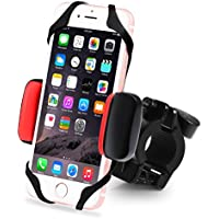 Metal Bike & Motorcycle Cell Phone Mount, with Unbreakable Metal Handlebar Holder & Shock-Absorbing Padding, Universal for Bicycle, Motorbike, ATV. Fits iPhone, Samsung or any Smart Phone/GPS