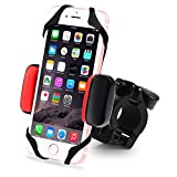 Metal Bike & Motorcycle Cell Phone Mount Unbreakable Handlebar Holder & Shock-Absorbing Padding, Universal Bicycle, Motorbike, ATV. Compatible with iPhone, Samsung Any Smart Phone/GPS