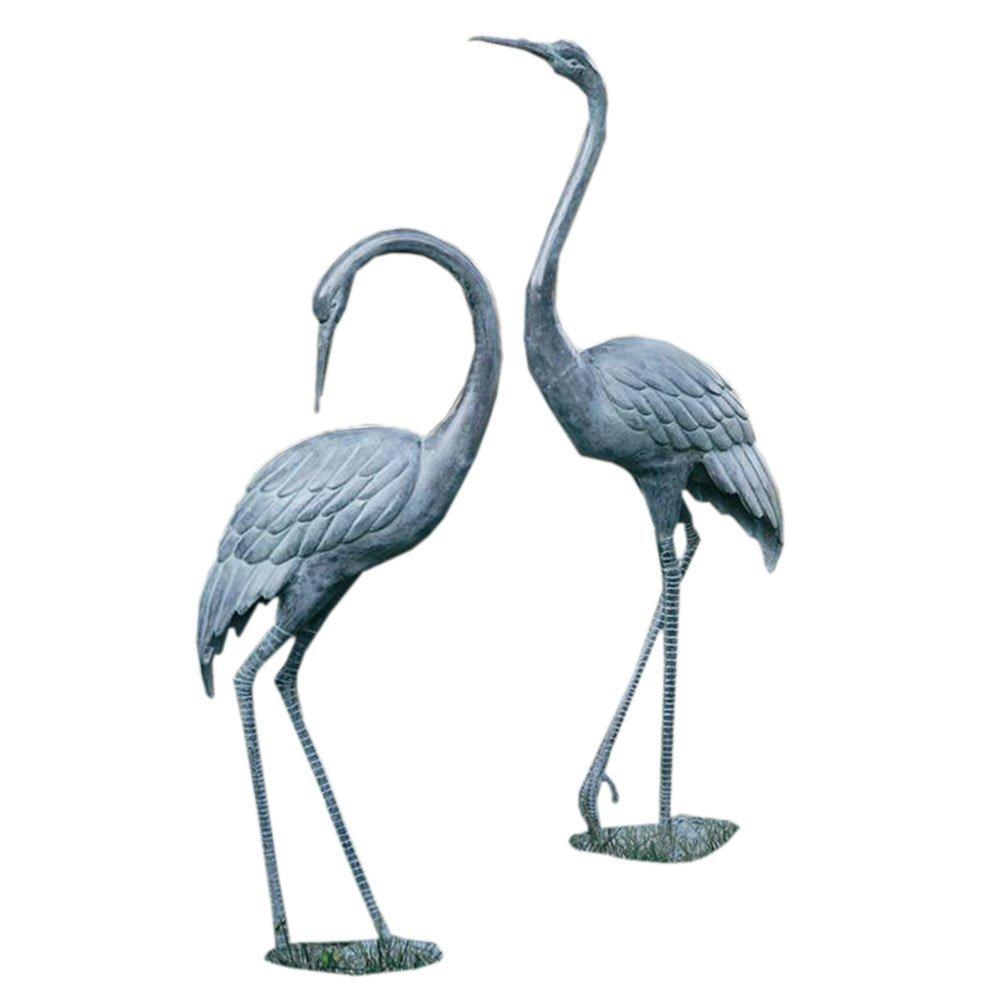 SPI Home Medium Garden Crane Pair Sculpture