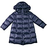 Oceankids Little Girl's Navy Blue Zip Closure Hooded Puffer Bubble Down Coat 2 Years