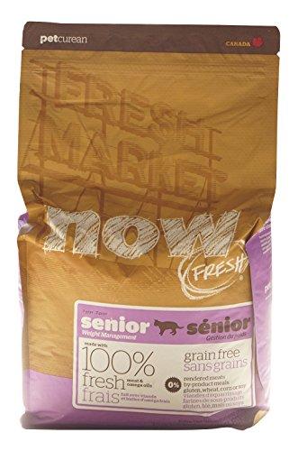 Petcurean Now! Fresh Grain Free Senior Cat Food, 4-Pound Bag