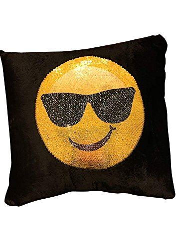Sunglasses Emoji And Sticking Out Tongue Emoji Swipe Deco Cushion