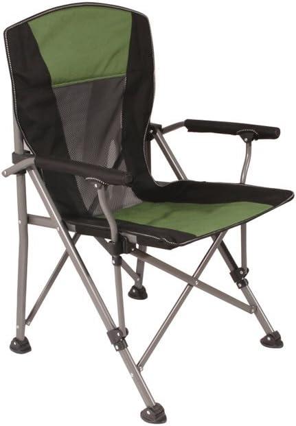 TangMengYun Silla plegable de lujo del sillón de playa de la silla que acampa de la silla de playa, conveniente para la pesca/acampando/barbacoa, silla plegable al aire libre casera (Color : Green)