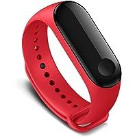 Kyver Xiaomi Mi Band 3 - Mi Band 4 Akıllı Bileklik Kyver Kordon Kayış (Kırmızı)