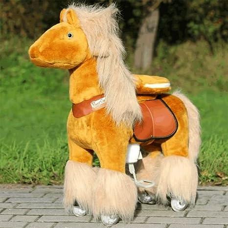 """Pony Cycle caballo """"Azuro Color Marrón Claro (Small) infantil caballo sobre"""