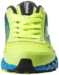 Reebok Zigultra Running Shoe (Little Kid/Big Kid),Neon Yellow/Risk Blue/Black,11 M US Little Kid