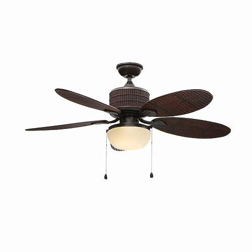 Home Decorators Indoor Outdoor Tahiti Breeze 52-Inch Ceiling Fan, Natural Iron