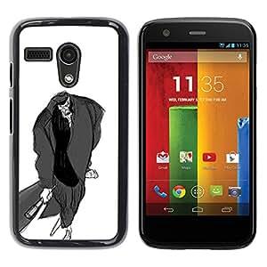"""For Motorola Moto G ( 1st Generation ) Case , Hombre Murciélago Dibujo al lápiz Arte Zombie de dibujos animados"""" - Diseño Patrón Teléfono Caso Cubierta Case Bumper Duro Protección Case Cover Funda"""