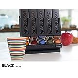ネスプレッソ カプセルホルダー ネスプレッソカプセルケース ディスペンサー ブラック 黒 2way Cafe Stock 5連ホルダー