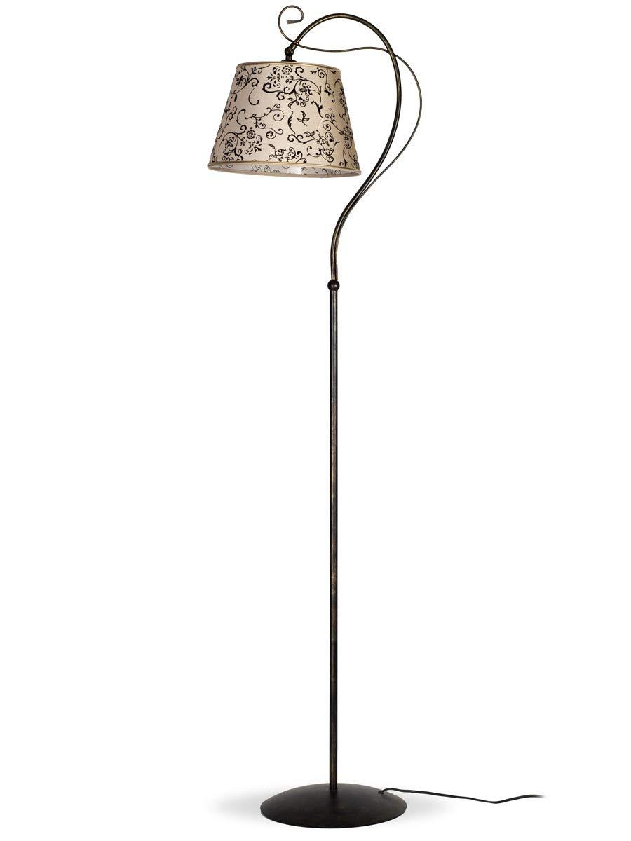 LED Stand Leuchte verstellbar Wohn Zimmer Beistell Steh Lampe holzfarbig weiß