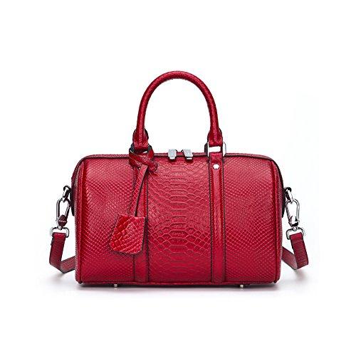 4329cd6ad9 Modo Borse A Borsa Pelle Sacchetto Elegant Shopper Elaborazione Spalla  Yvonnelee Rosso Donne Della Delle Tracolla ...