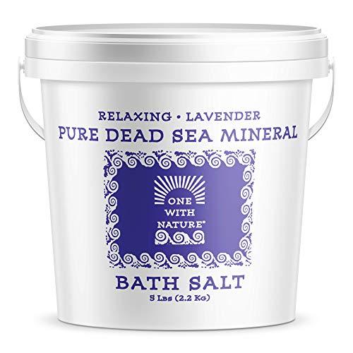 100% Pure Dead Sea Mineral Bath Salt 5Lb (Lavender)