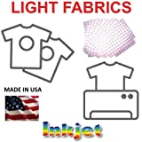 Transfer Paper for Ink Jet Printing 8.5 x 11 Light Fabrics, 500 Pack