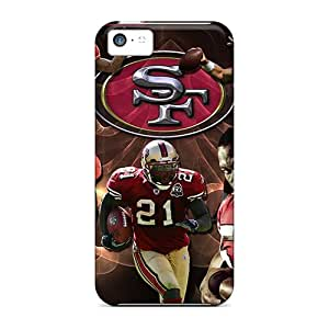 Protective Hard Cell-phone cases for Happy Christmas and New Year For Apple Iphone 5c With Custom Colorful San Francisco 49ers Pictures Hardphonecases