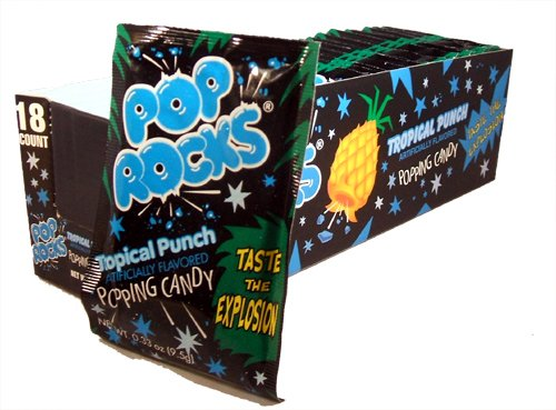 (Pop Rocks Popping Candy Tropical Candy 36 Pack Box)