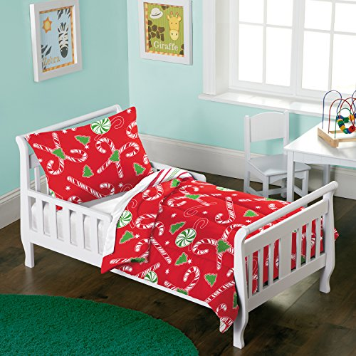Dream Factory Candy Cane Comforter Set, Toddler, Red - Candy Cane Set