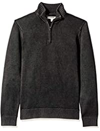 Men's Soft Cotton Quarter Zip Sweater