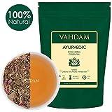 VAHDAM, Himalayana Tisane Con Foglie 100g (50 tazze), 21 Erbe Ayurvediche indiane miscelate con foglie di tè verde di alta qualità | Un tè disintossicante ed energizzante | Green Tea dall'India