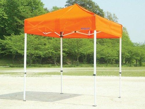 JOYFUL SHELTER Mr Quick クイックテント(メッシュテント) T-37M 【支柱:スチール/桁:アルミ 白粉体塗装】 間口7.2m×奥行3.6m B00C7GLGBC オレンジ オレンジ