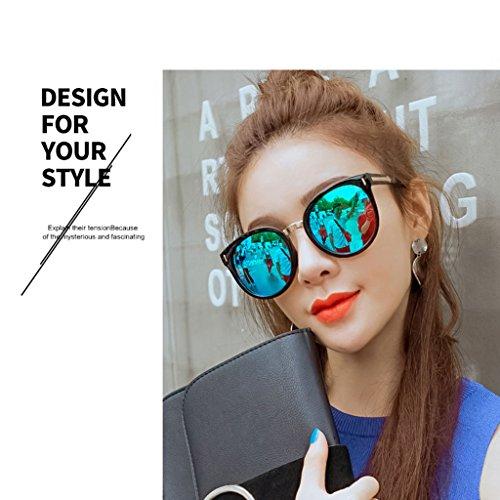 de de Sol 2 Box Color Sol Gafas Mujer Azul 1 DT Gafas Big Moda Gafas personales 1zvwUxU