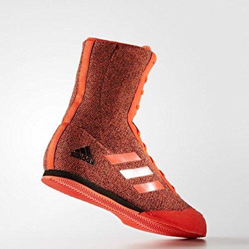 adidas Box Hog Plus botas de boxeo, color rojo y negro