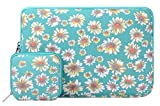 Mosiso MacBook Sleeve, Bohemian Canvas Fabric Case Bag Cover Only for New MacBook 12 Inch with Retina Display with a Small Case, Golden Aster