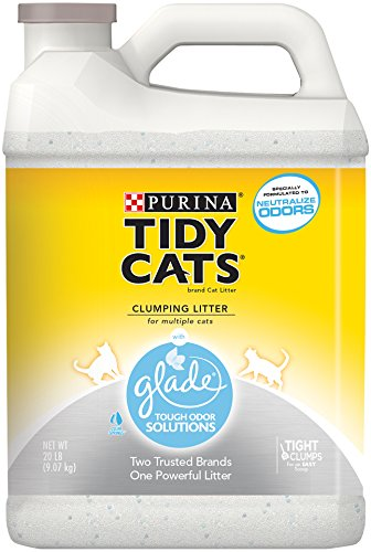 Purina Tidy Cats Glade Tough Odor Solution Clear Springs Clumping Cat Litter, 20 lb. Jug, Pack of 2