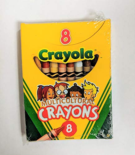 Crayola Multicultural Crayons, 8 Skin Tone Colors, 12 Pack ()