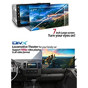 "Android 6 Touch Screen Car Stereo - Corehan 7"" inch Double Din In Dash Car Radio Video Multimedia Player with Bluetooth Wifi Mirror Link GPS Navigation System"