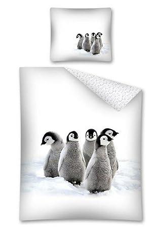 Baby Pinguin Bettwasche Kinder Bettwasche 140x200 Cm 2443a Amazon