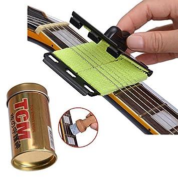 Cuerdas para guitarra eléctrica Scrubber cuerdas para guitarra eléctrica limpiador y lubricante para proteger tu guitarra: Amazon.es: Instrumentos musicales