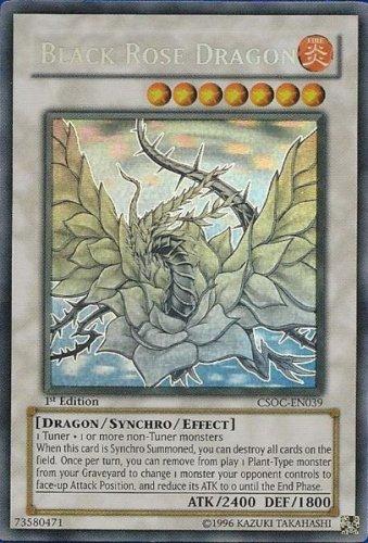 Yu-Gi-Oh! - Black Rose Dragon (CSOC-EN039) - Crossroads of Chaos - 1st Edition - Ghost (Black Rose Dragon)