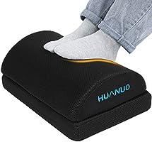 HUANUO Repose-pieds Réglable avec 2 Coussins de Pied Optionnels, Tabourets Antidérapants pour Bureau, Maison, Voyage